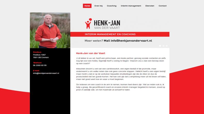 Websiteteksten Henk Jan van der Vaart